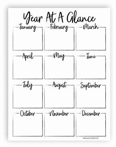Glance Printable Planner Plan Template Yearly Sheet
