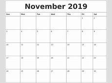 November 2019 Calendar Cute 2018 calendar printable