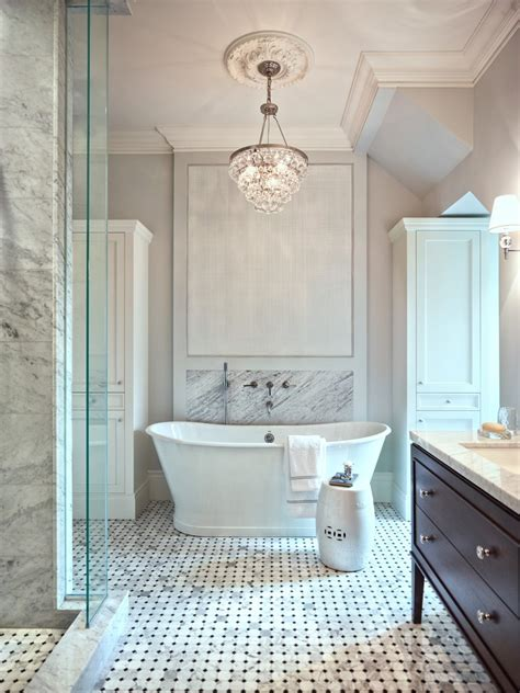 small crystal chandelier powder room traditional with wall