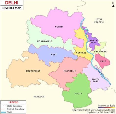 capital delhi map