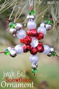 jingle bell snowflake ornaments