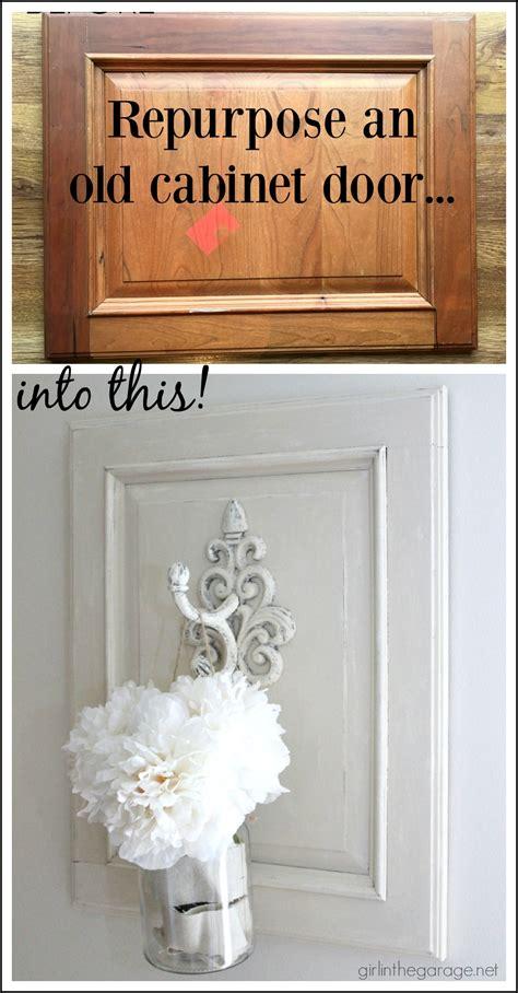 repurposed cabinet door  chic wall decor girl