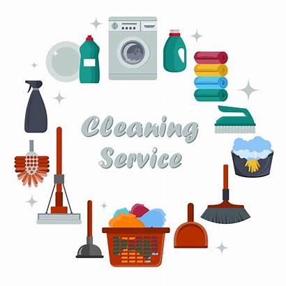 Cleaning Service Equipment Services Vector Concept Poster