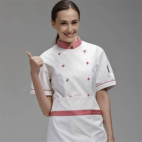 Brand Long Sleeve Chef Coat Uniforms Design For Female