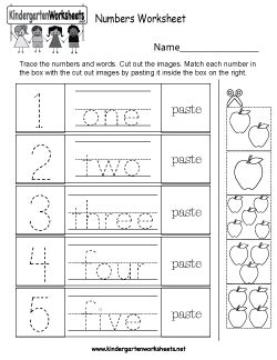 kindergarten numbers worksheets learning numbers