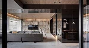 Sophisticated, Modern, Design, Apartment, With, Dark, Color, Concept, Nuance