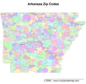 Arkansas Zip Code Map