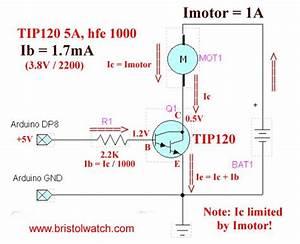 Basic Tip120 Darlington Transistor Switching Circuit