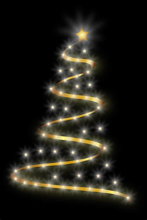 modern lighted christmas tree clipart modern christmas tree 4
