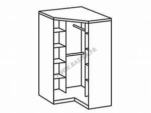 Armoire D Angle : armoire d 39 angle 2 portes oskar chene ~ Teatrodelosmanantiales.com Idées de Décoration