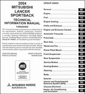 2004 Mitsubishi Lancer Sportback Body Manual Original