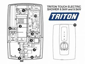 Triton Touch Electric Shower 9 5kw Shower Spares And Parts