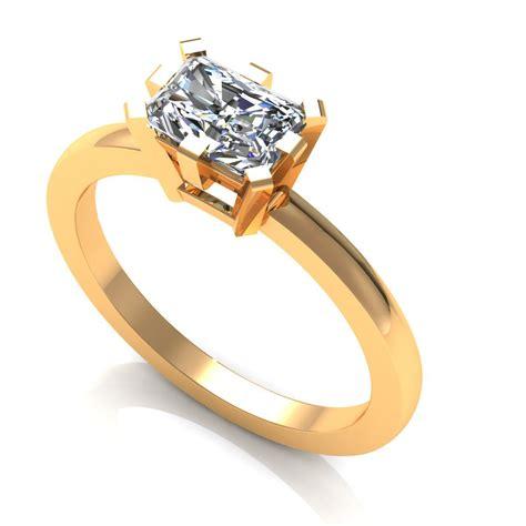 Emerald Diamond Ring 3d Model 3d Printable Stl Cgtradercom