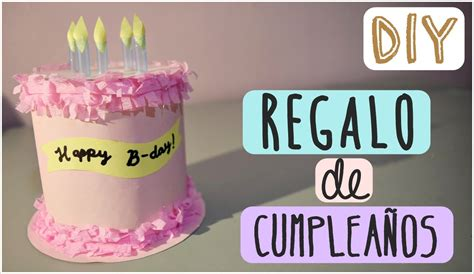 Diy Regalo Depleanos Youtube