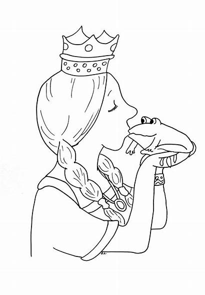 Coloring Princess Frog Pages Tales Princesses Fairy