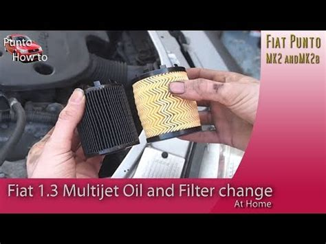 fiat  multijet diesel engine oil change youtube