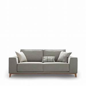 canape 2 places tissu et bois viktor light by modalto drawer With tapis kilim avec canapé 2 places confortable