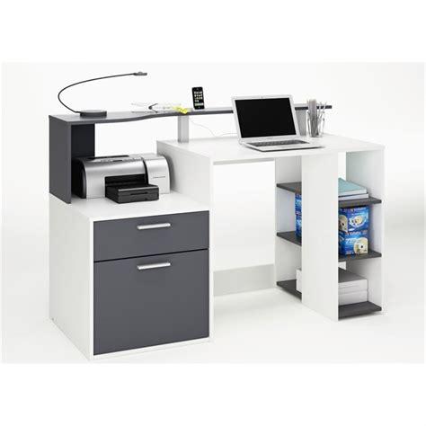 bureau gris oracle bureau 140 cm blanc gris achat vente bureau