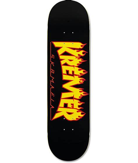 sk8mafia kremer flames 8 25 quot skateboard deck