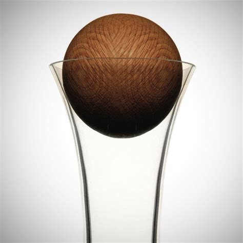 Sagaform Wine Carafe with Oak Stopper   Glass decanters