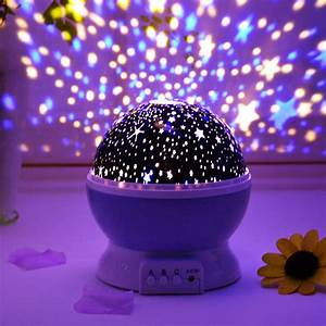 7, Colors, Light, Led, Rotating, Projector, Starry, Night, Lamp, Star, Sky, Romantic, Projection, Light