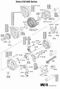 Delco Cs130d Alternator Exploded View Parts Breakdown