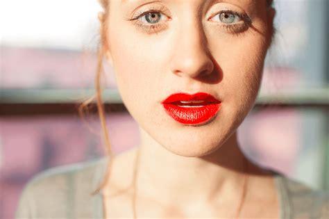 red lip shades   redhead skin tone