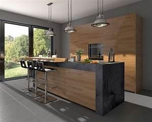 Deco Cuisine Bois : deco cuisine couleur bois design de cuisine ~ Melissatoandfro.com Idées de Décoration