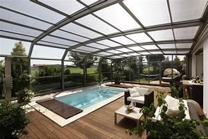 Fabriquer Un Abri De Piscine : abri de piscine t lescopique adoss ~ Zukunftsfamilie.com Idées de Décoration