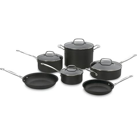 shop cuisinart chefs classic  piece nonstick hard anodized cookware set  shipping today