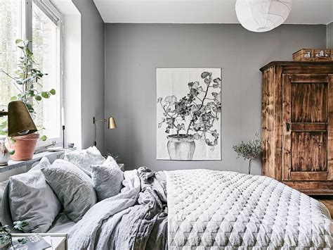 cozy bedroom  grey residential interiors cottage