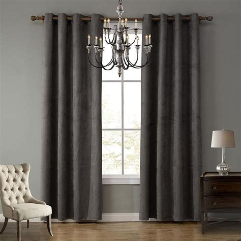 The light coffee color can show the master's steady and reliable character. Ultra-Light Suede Fabric Curtain Good Shading Living Room Curtain Window Blinds Bedroom Blackout ...