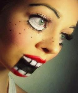 Halloween Make Up Puppe : halloween make up 15 idee trucco viso lei trendy ~ Frokenaadalensverden.com Haus und Dekorationen