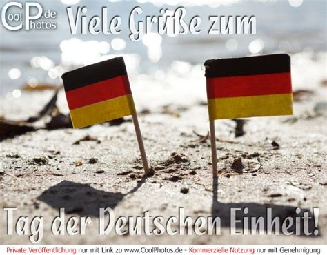 De dag van de duitse eenheid (duits: Hier spricht man Deutsch: 03.10. Tag der Deutschen Einheit