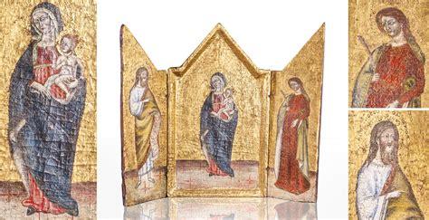 century siennese triptych marhamchurch antiques