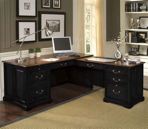 black home office desk black l shape desk for home office