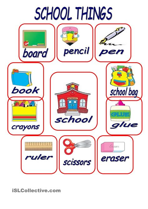 school things school school worksheets