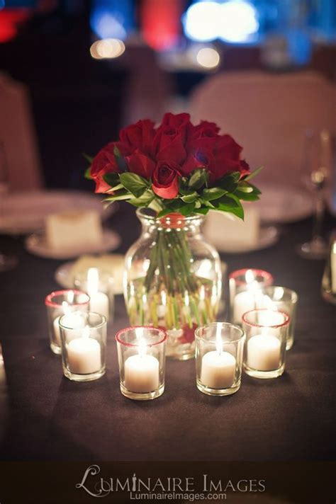 roses centerpieces ideas red rose centerpiece with candles mom s wedding ideas pinterest