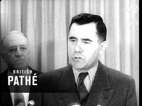 Gromyko Arrives For Un Meeting (1958) Youtube