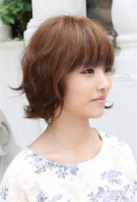 asian hairstyles soft casual wavy brown bob haircut