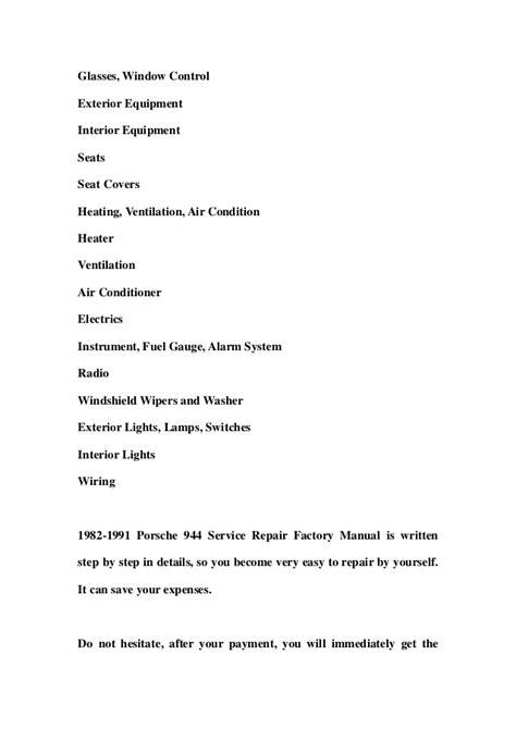 service repair manual free download 1984 pontiac firefly free book repair manuals 1982 1991 porsche 944 service repair factory manual instant download