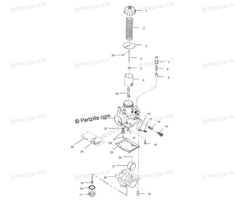 Polari Trailblazer 250 Part Diagram by Polaris Atv 2001 Oem Parts Diagram For Carburetor