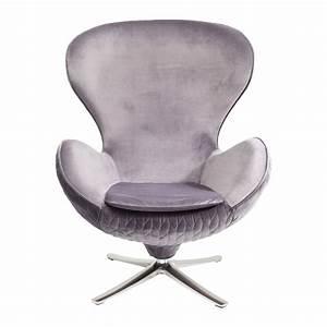 Fauteuil Pivotant Design : fauteuil pivotant lounge leaf gris kare design ~ Teatrodelosmanantiales.com Idées de Décoration