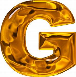 presentation alphabets lumpy gold letter g With gold letter g