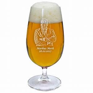 Weizenbierglas Mit Foto : bierglas mit fotogravur f r die m nner bei geschenkemaxx ~ Michelbontemps.com Haus und Dekorationen