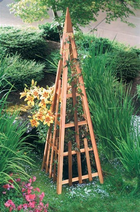 Shop Garden Trellis by Diy Garden Pyramid Trellis How My Garden Grows