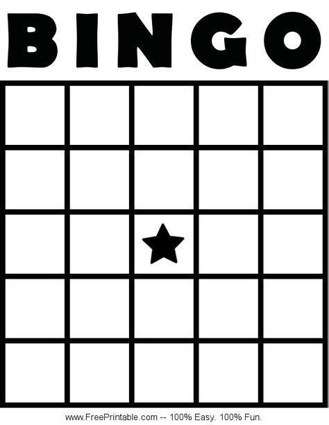 customize   printable blank bingo card