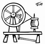 Spinning Wheel Wheels Coloring Template Majacraft Coming Sketch Yarn Pages sketch template