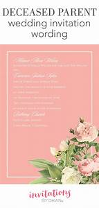 Deceased parent wedding invitation wording invitations for Wedding invitations for deceased parent