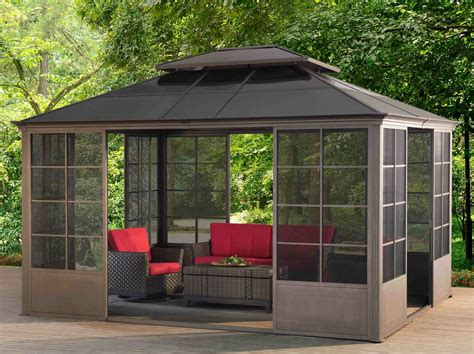 sunjoy ft ft metal permanent gazebo reviews wayfair